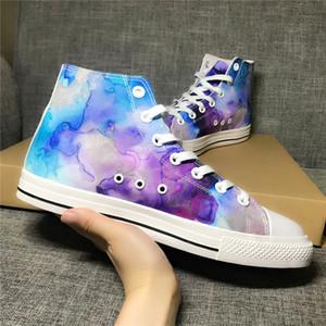 Erkek Ayakkabı İlkbahar 3D Baskı Oxford High Top Kauçuk Çizme Hafif Graffiti Tuval Unisex Sneaker Casual Ayakkabı İçin Erkekler Kadınlar