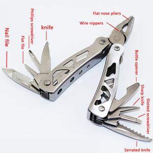 Многофункциональный плоскогубцы нож открывалка для бутылок отвертка карманные складные инструменты открытый портативный нержавеющей стали комбинированные плоскогубцы BC BH1252