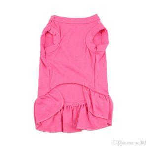 fibra de poliéster de color rojo perro mascota ropa sin mangas del chaleco perrito de color puro falda plisada fresca primavera y verano 9 2ywb1