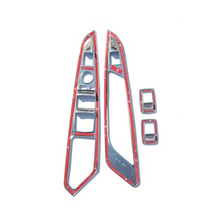 Chrome Door Window Button Panel Cover Trim Stickers For BMW X5 X6 F15 F16 2014-2017 Accessories Car-Styling For LHD