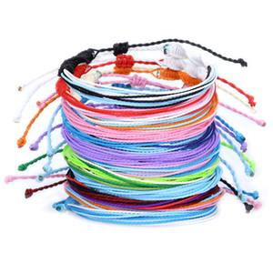 büküm renkli halat el dokuma bilezik Bohem bilezik çok katmanlı bilezik ile Moda yeni şekillendirici moda su geçirmez Tayvan mum parçacığı