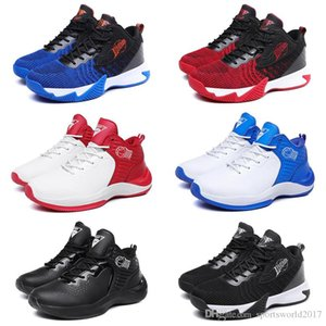 non-brand free shipping fashion men women running shoes Triple Black Blue Red mens trainer sports sneakers runners 40-44 item #23