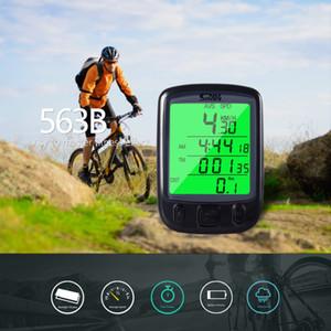 Nieuwe Stijl Sunding Display LCD 2018 SD 563B impermeabile di riciclaggio della bici Biciclette Computer Kilometerstand Snelheidsmeter incontrato Groene A