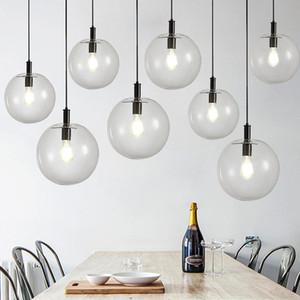 Nordic Pendant Lights Globe Chrome Lamp Glass Ball Pendant Lamp Lustre Suspension Kitchen Light Fixture E27 Home Hanglamp