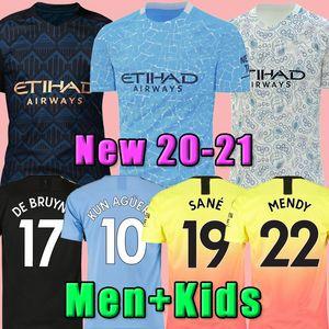 20 NEU 21 STERLING DE BRUYNE Kun Agüero Manchester Fußball Jersey City 2020 2021 SANE JESUS Fußballhemd Männer + Kinder Assemblies Uniform nach Hause