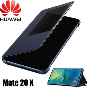 Original offizielle huawei mate 20 x flip case huawei mate 20 x ledertasche smart touch view fenster abdeckung mate 20x telefon fällen