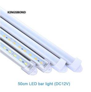 5pcs * 50cm de la fábrica al por mayor de 30 cm a 120 cm DC 12V duro SMD5730 LED tira rígida Barra de luz LED luz de tira con la cubierta de la PC DIY llevó