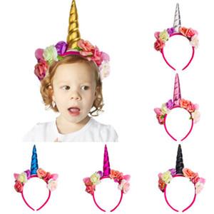 Emmababy Magique Licorne Corne Tête Partie Enfant Cheveux Bandeau Fantaisie Robe Mignon Cosplay Costume Cheveux Bandeau Décoratif