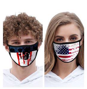 Luxury Designer Mask Flag Printing US Flag Fashion Dust-proof Washable Reusable Cycling Protective Mask Free Shipping