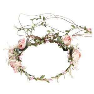 Women Headband Stylish Flower Headband Wreath Crown for Party Bride Wedding Beach Ornament Gift Female Hair Accessory