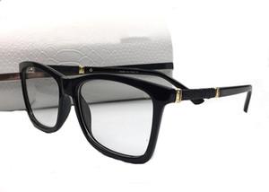Occhiali da sole quadrati di lusso con montature da vista Occhiali da sole trasparenti per occhiali da donna Stile ornamentale Occhiali miopi Oculos di alta qualità con scatola