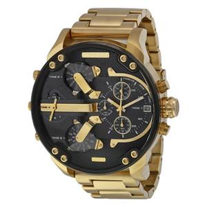 2019 Orologi da uomo firmati da uomo di nuova generazione orologi al quarzo in acciaio inossidabile di alta qualità con tempismo multifunzionale