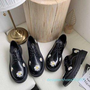 Printemps Automne Filles Chaussures en cuir verni Chaussures Femme Plateforme Femme Flats ronde Mesdames Toe Zapatos Noir mujer U29-45 D07
