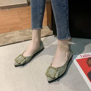 Düz ayakkabı üzerinde Casual Ayakkabı Kadın Nefes Bezelye Ayakkabı Moda loafer'lar Kayma Tek Anneler Maternity Sivri