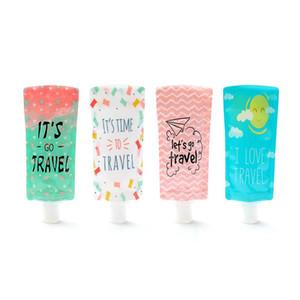 Bottiglia da 100 ml di viaggio Hand Sanitizer Cosmetic Bag insacco PVC Imballaggio portatile Borse Shampoo Packaging Bottiglie 500pcs CCA12061