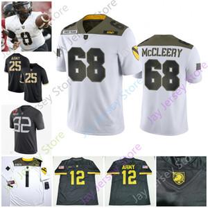 Ejército de encargo caballeros negros del jersey del fútbol universitario NCAA Sandon McCoy Jabari Leyes Cole Christiansen Darnell Woolfolk James Nachtigal Brinson
