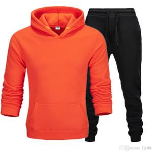 New Mens Sweat Suit Casual Fashion Primavera Autunno Autunno a maniche lunghe a due pezzi Jogger Set da donna Autunno Caduta Sport Sport Jogging Felpe con cappuccio + Pantaloni