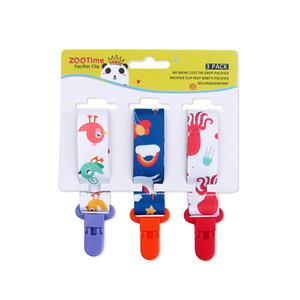 3pcs fumetto / set catena di clip sveglio del bambino neonato ciuccio Pacifier clip succhietti clip capezzoli Teether Dummy Strap A5890 Catena