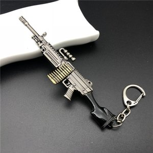 Kostenloser Versand Auto Keychain Spielzeug 98K Gun Spielzeug Anhänger AWM Gun Modell M249 Sniper Rifle Spiel Periphere Spielzeug