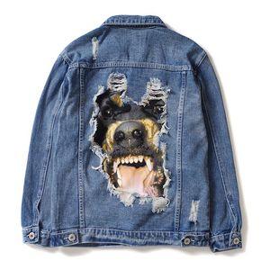Мужские Стилисты джинсовой куртки мужчины женщины высокого качества пальто синий Мода мужская куртка Стилист Hip Hop