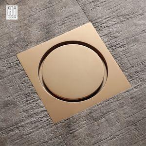 toptan Yüksek Kalite Kare Pirinç PVD Altın Duş Kat Aile Banyo Tuvalet için Anti-Koku Lavabo Küvet Damlalıklı Floor Tahliye