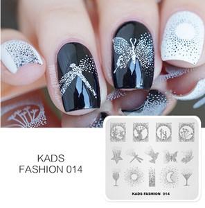 Nuovo arrivo Moda 014 Nail Art Stamping Piatti Manicure Stamping Template Plates Nail Stamp Plate Stampa Stencil
