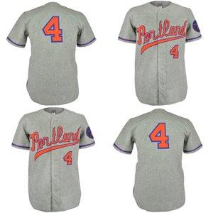 Portland Beavers 1968 Jersey Route 100% Cousu Broderie Vintage Baseball Jersey personnalisés Livraison gratuite