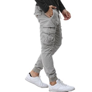 Mens Camouflage Tactical Cargo Pants Men Joggers Casual Cotton Pants Hip Hop Ribbon Male army Trousers 38