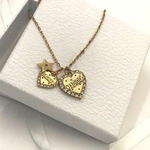New Double Love Pendant Diamond Designer Jewelry Luxury Woman Wild Fashion Designer Necklace