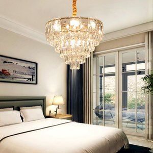 Modern  creative crystal pendant chandelier lighting crystal chandeliers lamp gold pendant light for dinning room bedroom