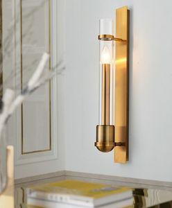 Sala de estar Lobby Aplique de pared Fondo Moderno minimalista lámpara de pared escalera de vidrio LLFA