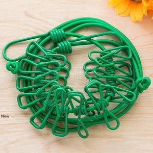 1.74m 12 clip ganci elastici clothesline di viaggio multifunzionale portatile intimi calze linee di lavaggio vestiti appesi rack corda FFA2642
