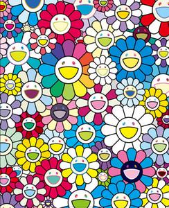 Takashi Murakami Un campo di fiori per la casa Artigianato / HD Stampa della pittura a olio su tela di canapa di arte della parete della tela di canapa Immagini 191.112
