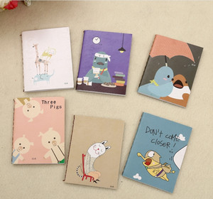 Cartoon mini notebook Paper portable portable notebook Primary school children's daily notebook