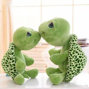 Kawaii Kawaii New arrival 20cm Plush Doll Super Green Big Eyes Stuffed Tortoise Turtle Animal Plush Baby Toy