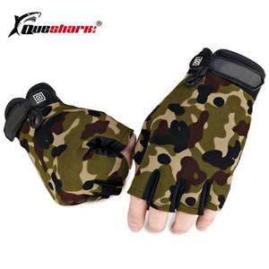 New Upgrade Tactical Mezza Finger Fishing Gloves Anti-scivolo Uomini Sport All'aria Aperta Mittens Camouflage Airsoft Tiro Caccia Guanti