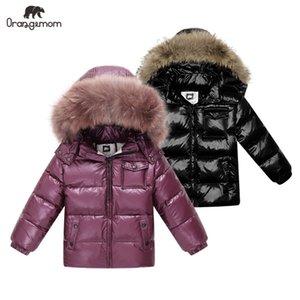 Brand Orangemom 2019 winter Children's Clothing jackets coat , kids clothes outerwear coats , white duck down girls boys jacketMX190916