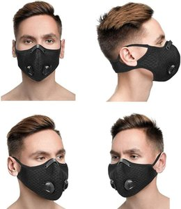 Anti-pollution mask. black face mask.Washable mask valves and filters to protect the skin PM2.5, running,   riding masks.