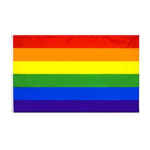 doğrudan fabrika toptan 3x5fts phily Düz Ally LGBT Gökkuşağı Gay Pride Bayrak ilerleme Philadelphia 90x150cm 8 tasarımlar