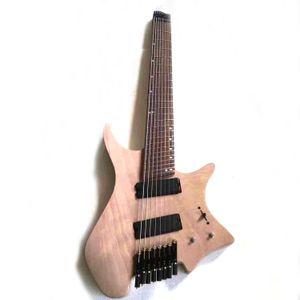 Musoo Marke unvollendet 8 Strings aufgefächert Bund ohne Kopf E-Gitarre