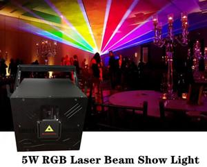 PC alta velocidade Scanner Ilda Rgb Animação 30k Scanner 5W Stage Luz Laser 5watt DMX SD-Card