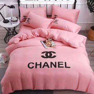 Branded weiche Bettwäsche Supplies Warm Baumwolle Bettwäsche-Sets Letter Print Bettbezug Bettbezug Pillowcase Kurz Bettwäsche