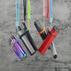 Düz vape kalem koko taşınabilir silikon vape bandı için halka O renkli silikon renkli kordon dizisi kayış