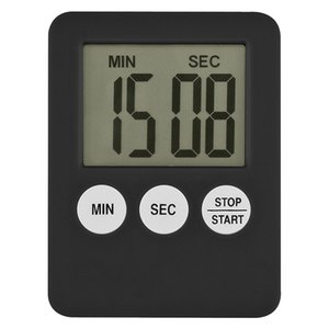 New 1Pcs 4Colors Super Thin LCD Digital Screen Kitchen Timer Square Cooking Count Up Countdown Alarm Magnet Clock