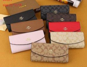 Mayor el envío libre clásico multicolor Señora tirón largas cartas Monedero Monedero de la manija de tarjeta de paquete de sobresENTRENADOR;