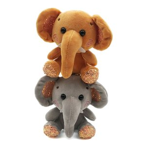 Elephant Plush Stuffed Mini Doll Pendant Keychain Key Chain Holder Bag Decor Animals Fluffy Bear Toy gifts Bag Keychain Gadget
