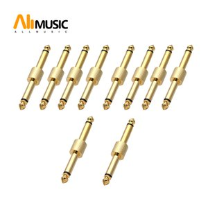 10Pcs 6.35mm guitar effect pedal connector Audio adaptors connecting jack gold Silver guitar pedal connector