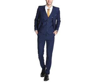 Mens Suits One Button Single Breasted Prom Party Blazer Jacket 3 Pieces Slim Fit Classic Formal Wedding Tuxedo Suit Jackets