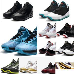 Mens LeBrons 7 tênis de basquete Triplo Black Cat White Gold Red Oreo BHM Páscoa CNY 2020 novos LeBron James 7s VII sneakers tênis com caixa
