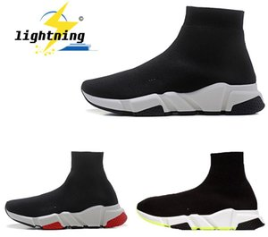2020 Designer Sneakers Speed Coach Men &#039 ;S Running Shoes Black Red Triple Black Fashion Women &#039 ;S Flat Shoes Boots Casual Shoes Si